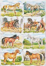 Glanzbilder Oblaten Pferde EF Ernst Freihoff