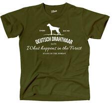TVL T-Shirt Hund Hunde DEUTSCH DRAHTHAAR Vintage Logo Forest fun Siviwonder