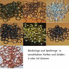 5 gr Biegeringe Jumpring Binderinge Ringe SpaltringeDouple Loopring Bindering
