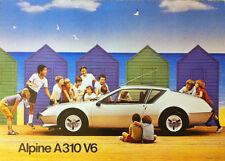 RENAULT ALPINE A310 V6 showroom Classic Car Poster Image Imprime A1