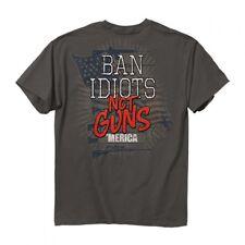 New BAN IDIOTS NOT GUNS T SHIRT -AWESOME - NRA  SHIRT--'MERICA