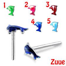 Colorido Dolphin piercings para nariz Cables Nw20
