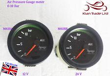 0-10 BAR AIR VACUUM PRESSURE 0-140 PSI CLOCK VINTAGE CAR 60MM DIAL METER Gauge