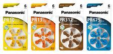 Hörgerätebatterien Panasonic ZL 10, ZL 13, ZL 312, ZL 675 Hörgerät Knopfzelle