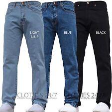 NUOVO da uomo Basic DI MARCA Jeans vestibilità classica lavoro pantaloni vita