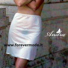 Sottogonna donna Andra Lingerie media altezza con fondo bordato in raso art 683