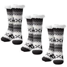 Unisex Sherpa Fleece Lined Non Slip Slipper Socks Warm Fuzzy Grippers Home Sock