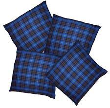 Blue Tartan Throw Cushion Cover/Case Burns Night Christmas Decoration