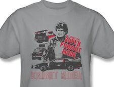 Knight Rider T-shirt KITT David Hasselhoff retro 1980's TV cotton tee NBC196