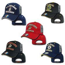 US Air Force Army Marines Navy Veteran Vet Military Baseball Hats Hat Cap Caps