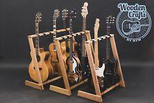 Solid Oak, Redwood, Ash, Multi Wooden guitar stand, for 2, 3, 4, 5 or 6 guitars