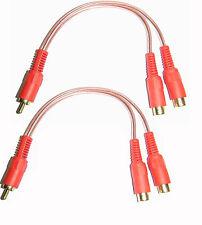 Fono RCA Y Cavo Splitter cavo amplificatore Y 1 a 2 Maschio Autoleads PC1-1M Donna
