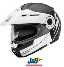 Schuberth e1 Motorradhelm Abenteuer Flip Vorne Modular strahlendes Weiß j&s