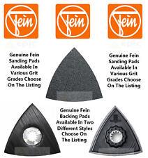 véritable Fein Multi outils patins de ponçage Paquet 50 TOUT GRAINS DISPONIBLE