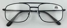 L455 High Quality Double Bridge Reading Glasses/Spring Hinges/Large Frame Design