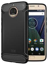 TUDIA TAMM Ultra Slim Carbon Fiber TPU Cover Case for Motorola Moto G5S Plus