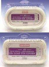40 Pack Set 1lb / 2lb LOAF TIN Liner carta CAKE BAKING caso ANTIADERENTE grasso prova