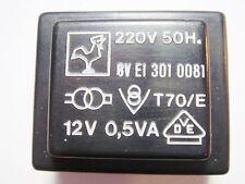 1526028 TRANSFORMER TRASFORMATORE sec 220v 15v 5va P.M.A Printtrafo prim