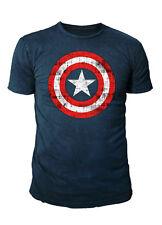 Marvel Comics - Captain America Herren Shield T-Shirt  (Navy) (S-XL)