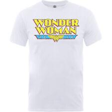 NEW DC Comics Men's Tee: Wonder Woman Logo Crackle