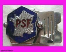 IP233 BOUCLE DE CEINTURE DU PARTI SOCIAL FRANCAIS PSF
