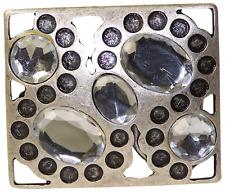 fronhofer Fibbia Cintura in argento anticato, pietre gioiello, Donna, 4 cm