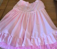 Rockabilly swing and jive pink cotton petticoat
