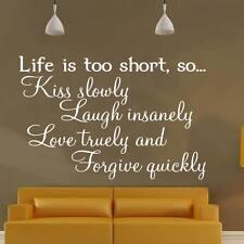 Life is too short wallsticker WD01