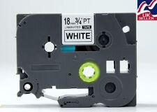 1-30x 18mm cinta TZe 241, TZ 241 Negro/blanco para las impresoras de etiquetas Brother P-Touch