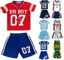 Kids World Cup England Football Basketball Short SetsTop Short Texas Dr Boy