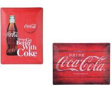 Vintage Blechschild Coca Cola Metall Schild Plakat Poster Retro Shabby Nostalgie