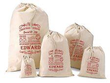Personalised Christmas Santa Sack Gift Bag -  Various Sizes - Edward Design
