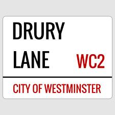 Drury Lane London Street Sign Plaque Aluminium
