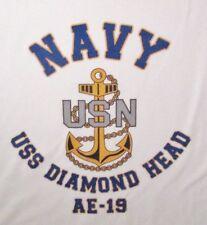USS DIAMOND HEAD  AE-19* AMMUNITION SHIP * U.S NAVY W/ ANCHOR* SHIRT