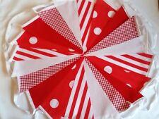 Fabric Bunting Festival Wedding Polka Dot Stripe Stars Handmade various lengths