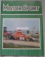 Motor Sport Magazine 06/1974 featuring Alfa Romeo Alfetta, Lotus Elite