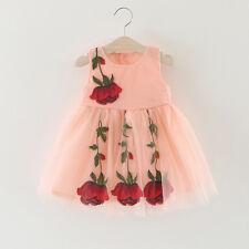 Toddler Baby Princess Girls Dress Summer Cute Infant Flower tutu Baby Clothes