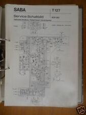 Service schematic Saba RCR 362 Radio Recorder,ORIGINAL