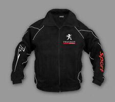 Herren Neu Peugeot Sport Rally Bekleidung Fleece jacke mit gestickte emblemen