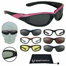 Motorcycle Sunglasse Safety Glasses Goggles Women Padded Foam Biker Fits S-M