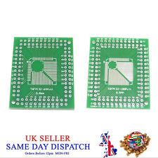 PCB QFP/TQFP/LQFP/FQFP to DIP Converter Board 32/44/64/80/100 Pin Plate Adapter