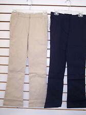 Girls Arrow Navy or Khaki Skinny Style Uniform Pants Size 8 - 10