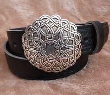 Celtic Belt Brown or Black Celtic Buckle Hand Made Real Leather 38mm  xxl DR4