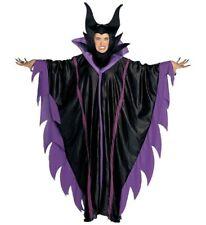 Costume Carnevale Donna malefica vestito con collare e cappello *19945