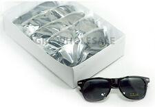 12 Pairs lot BLACK WAYFARER SUNGLASSES dark lens small md large rave wholesale