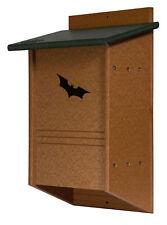 "40 Colony BAT HOUSE Mosquito Amish built Turf green&cedar 11""w x 14½""h x 6d"""