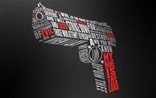 PULP FICTION QUOTE GUN GLOSSY POSTER PICTURE BANNER ezekiel handgun bible 1050