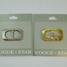 17mm Rectangle Squared Edges Slim Buckle Vogue Star