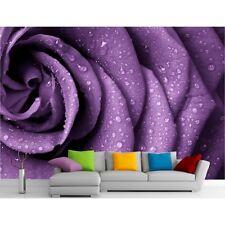 Stickers muraux géant déco : Fleur violette 11173