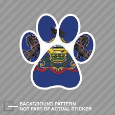 Pennsylvania State Shaped Paw Print Sticker Dog Cat Pet Puppy